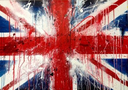 Bleeding British flag