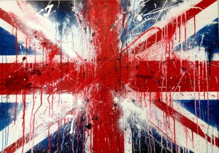 Bleeding British flag